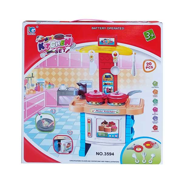 toko mainan online MINI KITCHEN SET 20 PCS - 3594