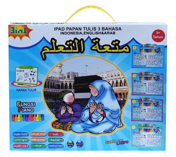 toko mainan online IPAD PAPAN TULIS 3 BAHASA - JJ-18