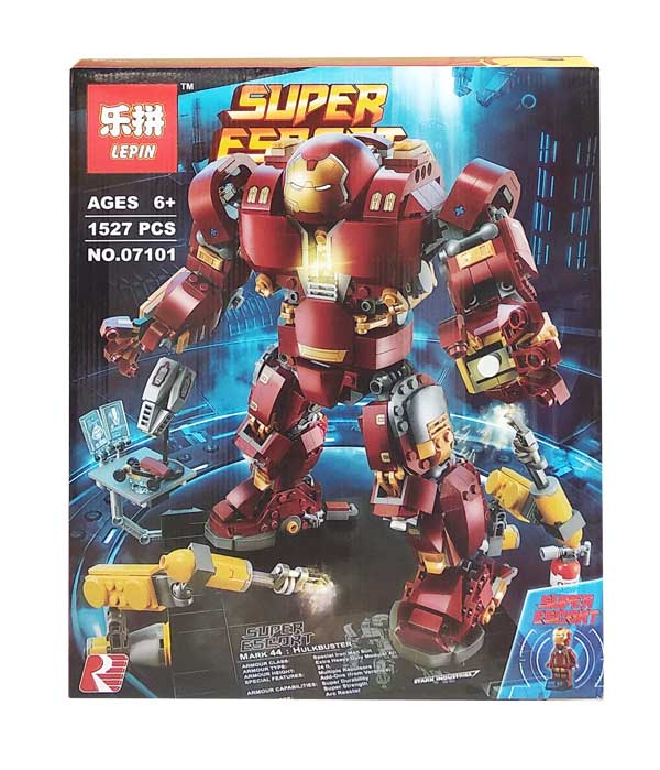 toko mainan online BLOCK LEPIN MARK 44 HULKBUSTER 1527 PCS - 07101