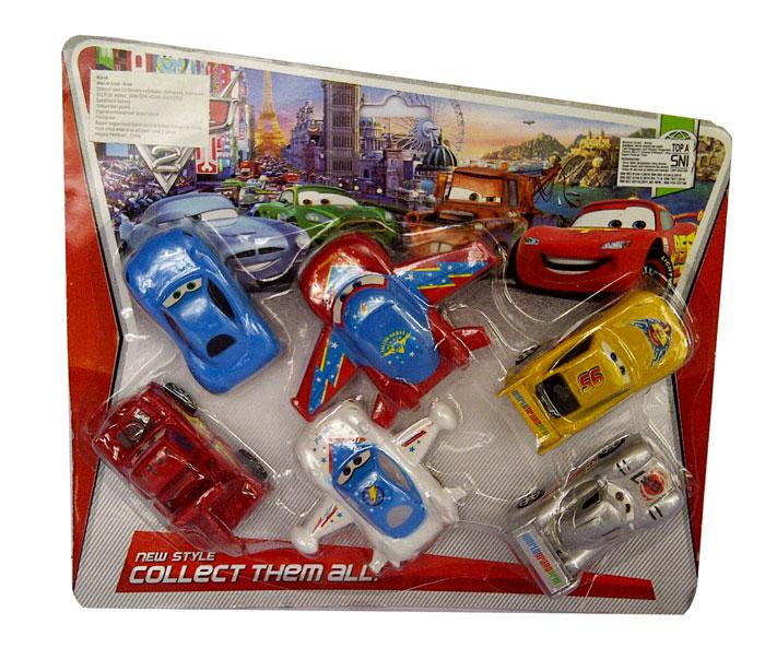 toko mainan online SET PLANES + CARS 6PC