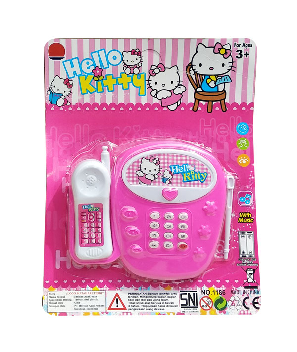 toko mainan online HELLO KITTY MUSIC PHONE - 1186