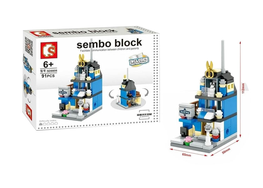 toko mainan online SEMBO BLOCK THE BARBER SHOP 91PC- SD6608