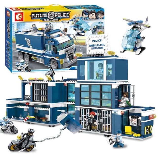toko mainan online POLICE MOBILE JAIL 900PCS - SD9816