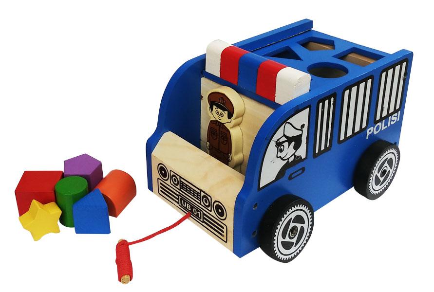 toko mainan online MOBIL POLISI SHAPE SORTER
