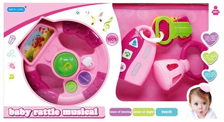 toko mainan online TINKLER STEERING WHEEL PINK - 2802-2