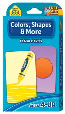 toko mainan online School Zone Colours  Shapes & More Flash Cards (56
