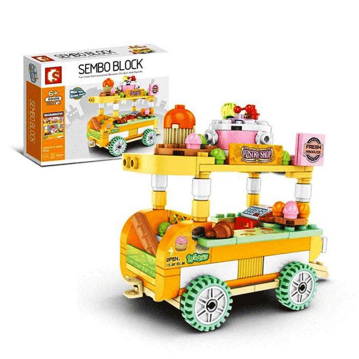 toko mainan online SEMBO STREET STALL 159PCS - 601109