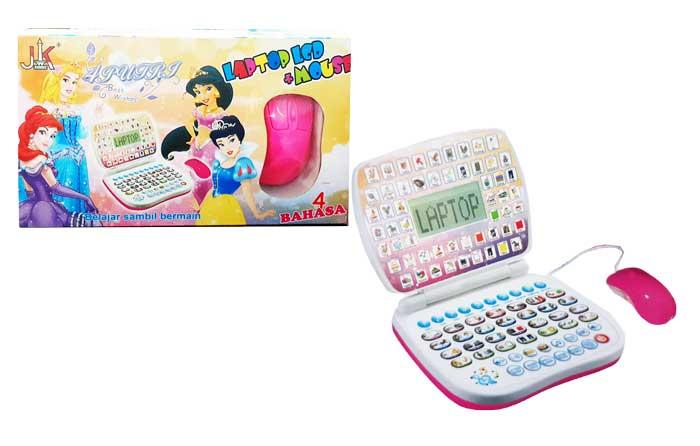 toko mainan online LAPTOP LCD MOUSE PRINCESS - ABB-4LM