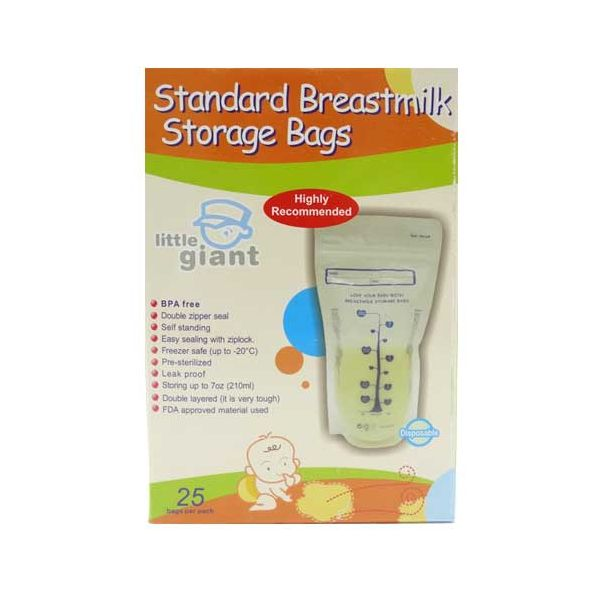 toko mainan online LITTLE GIANT MILK STORAGE BAG 25PC