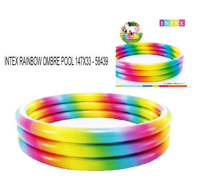 toko mainan online INTEX RAINBOW OMBRE POOL 147X33 - 58439