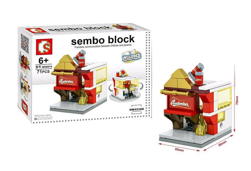 toko mainan online SEMBO BLOCK BUDWSISER 71PCS - SD6614