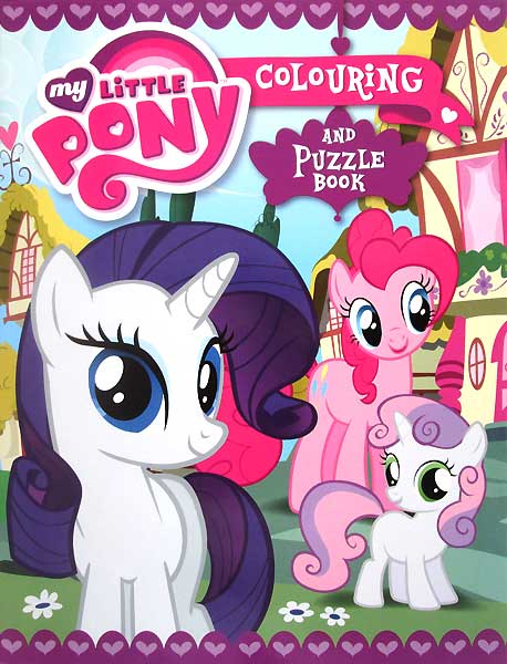 toko mainan online MY LITTLE PONY COLORING AND PUZZLE BOOK