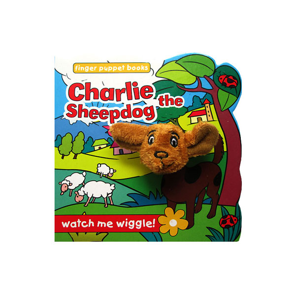 toko mainan online Charlie the Sheepdog - Wiggly Finger Puppet