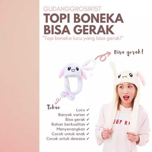 toko mainan online TOPI BONEKA GERAK LED