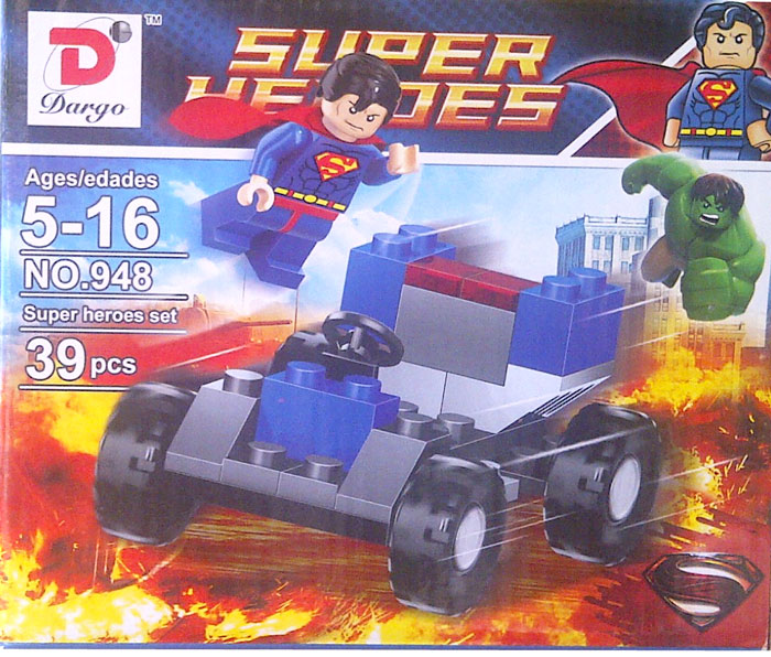 toko mainan online BLOCKS SUPER HEROES SUPERMAN 39PC
