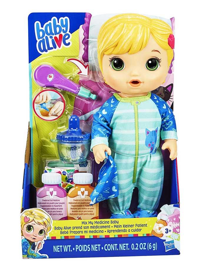 toko mainan online BABY ALIVE MIXMY MEDICINE (KUNING) E6937