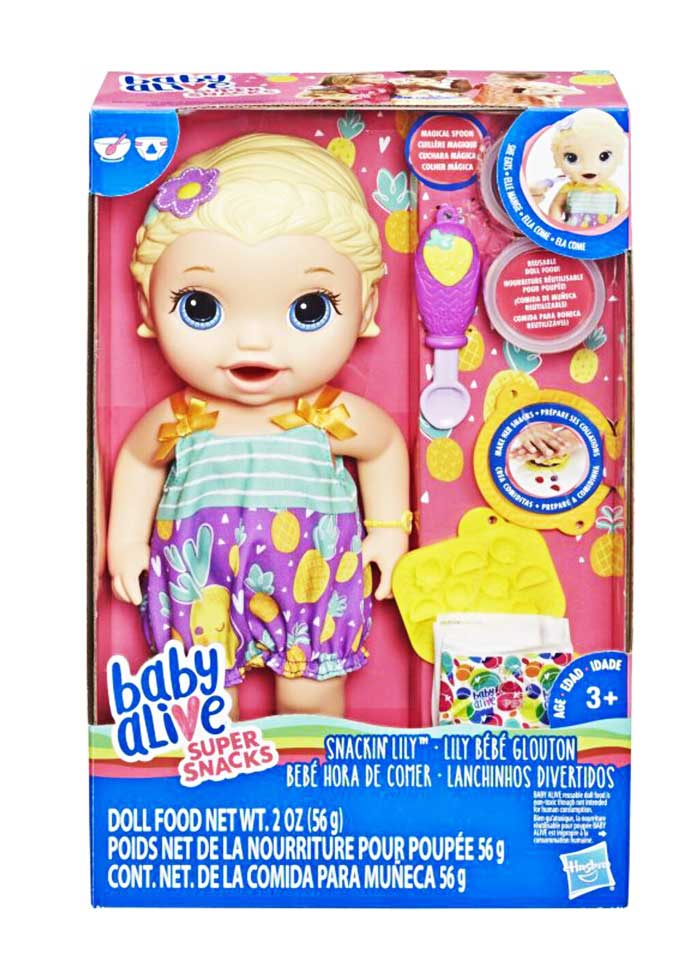 toko mainan online BABY ALIVE SNACKIN LILY - E5841