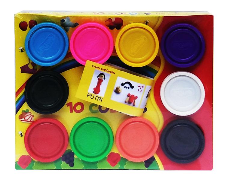 toko mainan online Dough Warna 10pcs - 28004