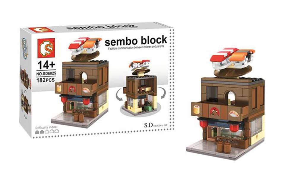 toko mainan online SEMBO SUSHI 182PCS - SD6025