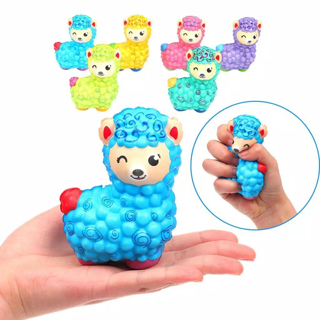 toko mainan online SQUISHY RAINBOW SHEEP - SQ-101
