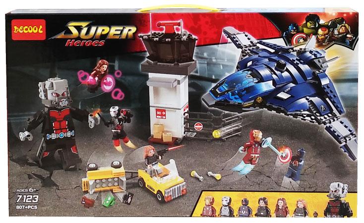 toko mainan online DECOOL SUPER HEROES 807PC - 7123