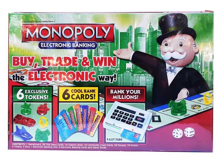 toko mainan online MONOPOLY ELECTRONIC BANKING - 6136B