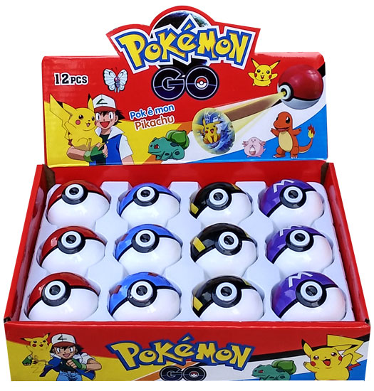 toko mainan online KEYCHAIN POKEBALL  WITH PROJECTOR - (gr12)