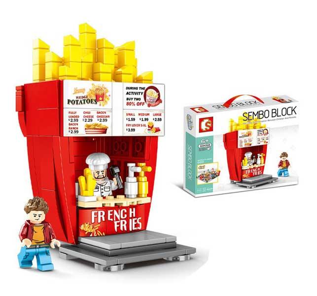 toko mainan online SEMBO BLOCK FRENCH FRIES 263PCS - 601058