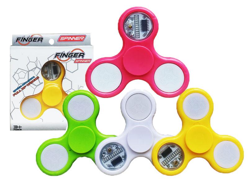 toko mainan online SPINNER LAMPU BENTUK ON OFF (TRANSPARANT)