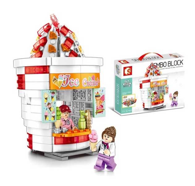 toko mainan online SEMBO BLOCK ICE CREAM 280PCS - 601057