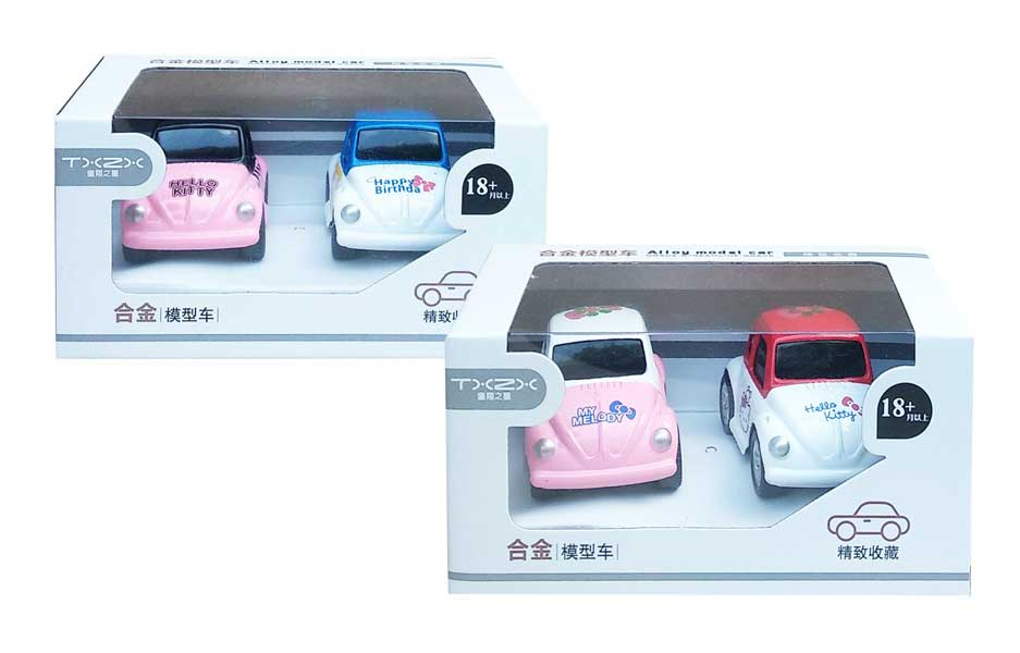 toko mainan online ALLOY HELLO KITTY CAR - 1300-13