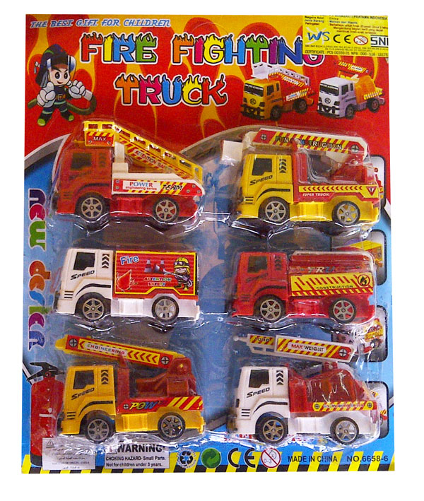toko mainan online FIRE FIGHTING TRUCK 6PC