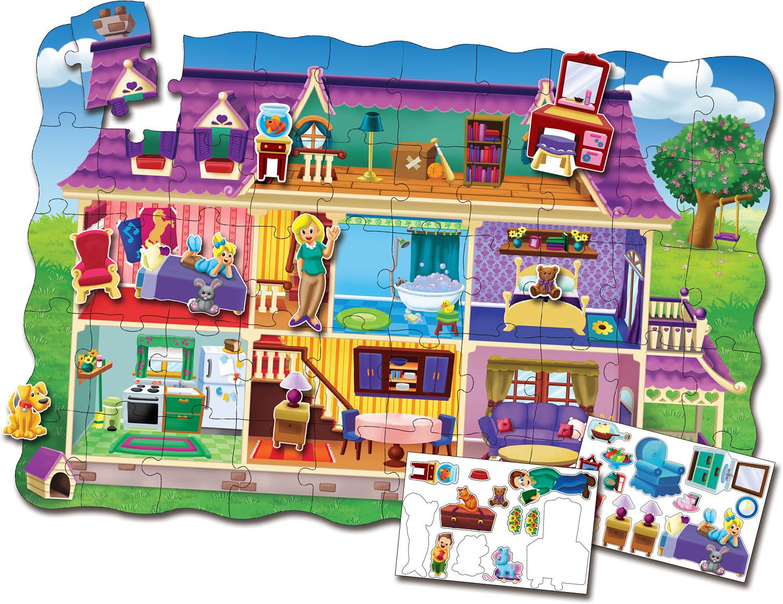 toko mainan online PUZZLE CREATE A SCENE DOLLHOUSE - 55099