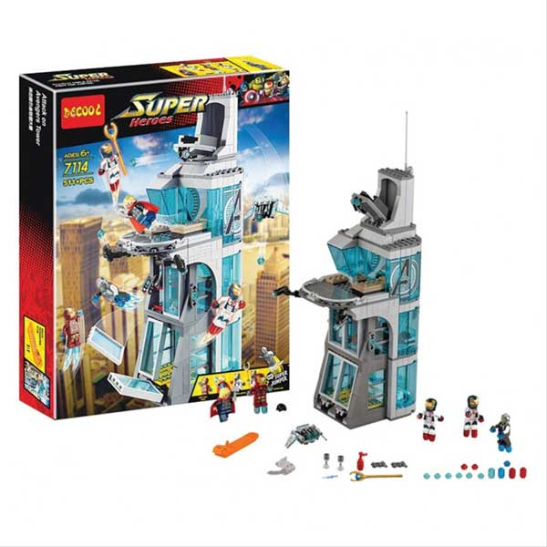 toko mainan online DECOOL SUPER HEROES 511PCS - 7114