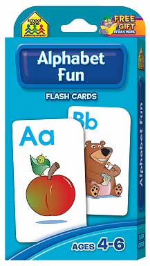 toko mainan online School Zone Alphabet Fun Flash Cards (56 Cards)