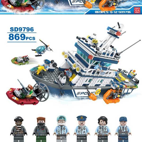 toko mainan online SEMBO BLOCK FUTURE POLICE 869 PCS - SD9796