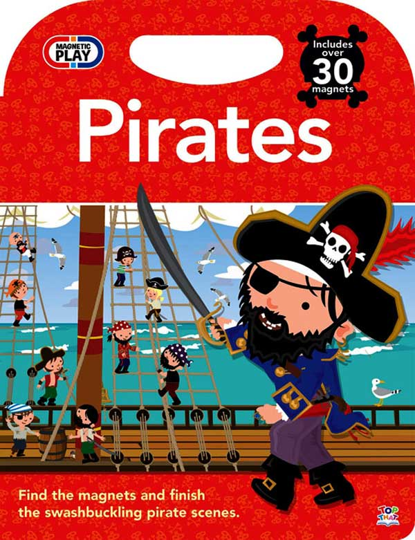 toko mainan online Magnetic Play Pirates Includes Over 30 Magnets