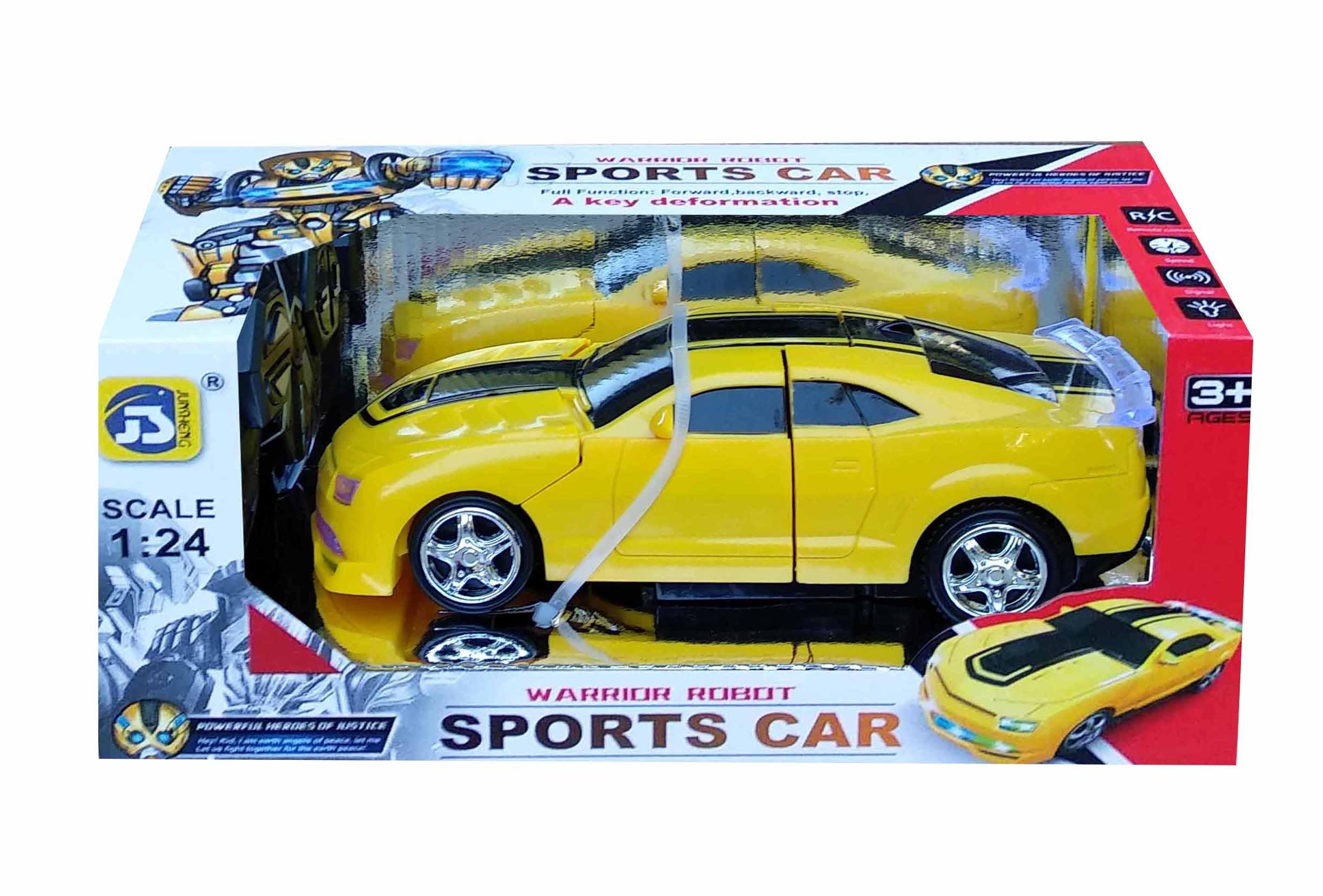 toko mainan online RC WARRIOR ROBOT SPORT CAR - JS001A