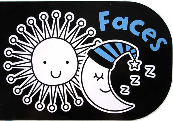 toko mainan online Faces - Black & White Chunky Board Book