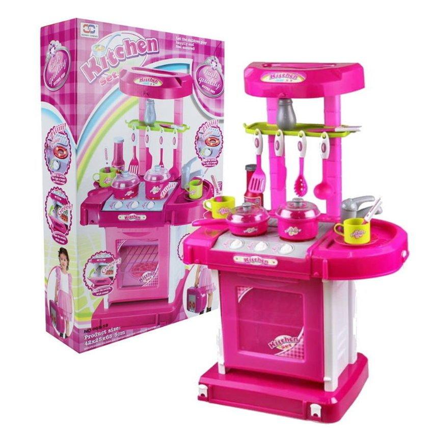 toko mainan online Kitchen Set Koper Pink - 008-58