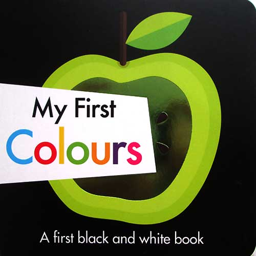 toko mainan online My First Colours - A first black and white board book