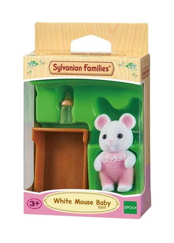 toko mainan online SYLVANIAN WHITE MOUSE BABY - 5069