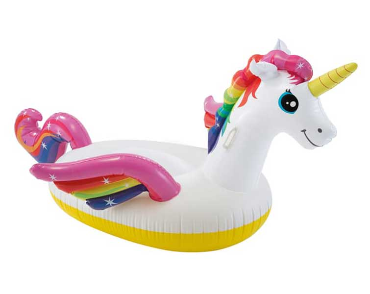 toko mainan online INTEX UNICORN RIDE ON - 57561