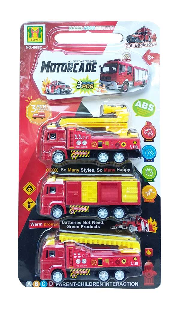 toko mainan online MOTORCADE FIREFIGHTER 3PCS - 4988C