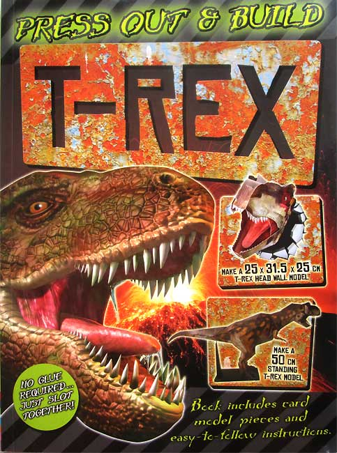 toko mainan online PRESS OUT & BUILD T-REX - 454548