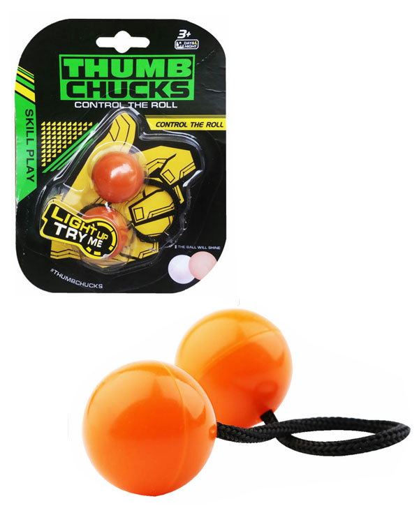 toko mainan online THUMB CHUCKS FIDGET YOYO GLOW IN THE DARK