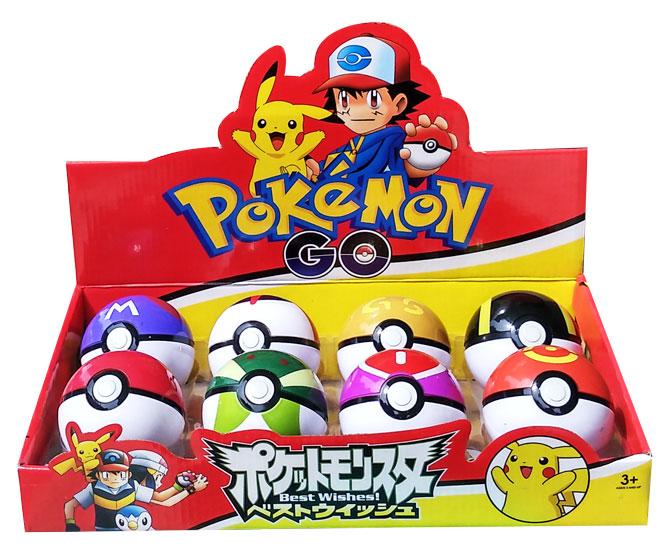 toko mainan online POKEBALL 8 CM + FIGURINE 1PC (gr8)