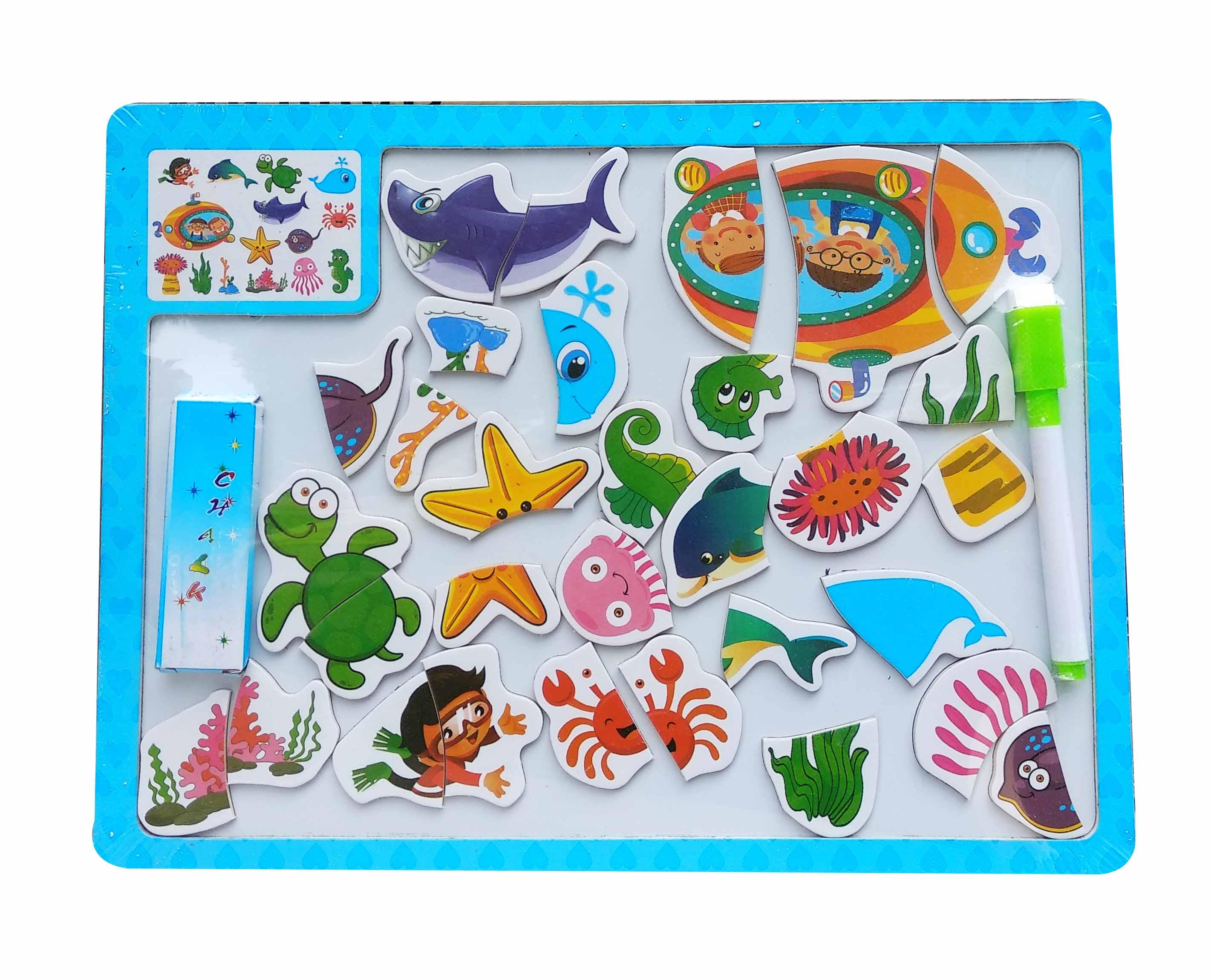 toko mainan online WOODEN PUZZLE 2 IN 1 MAGNETIC - CX01