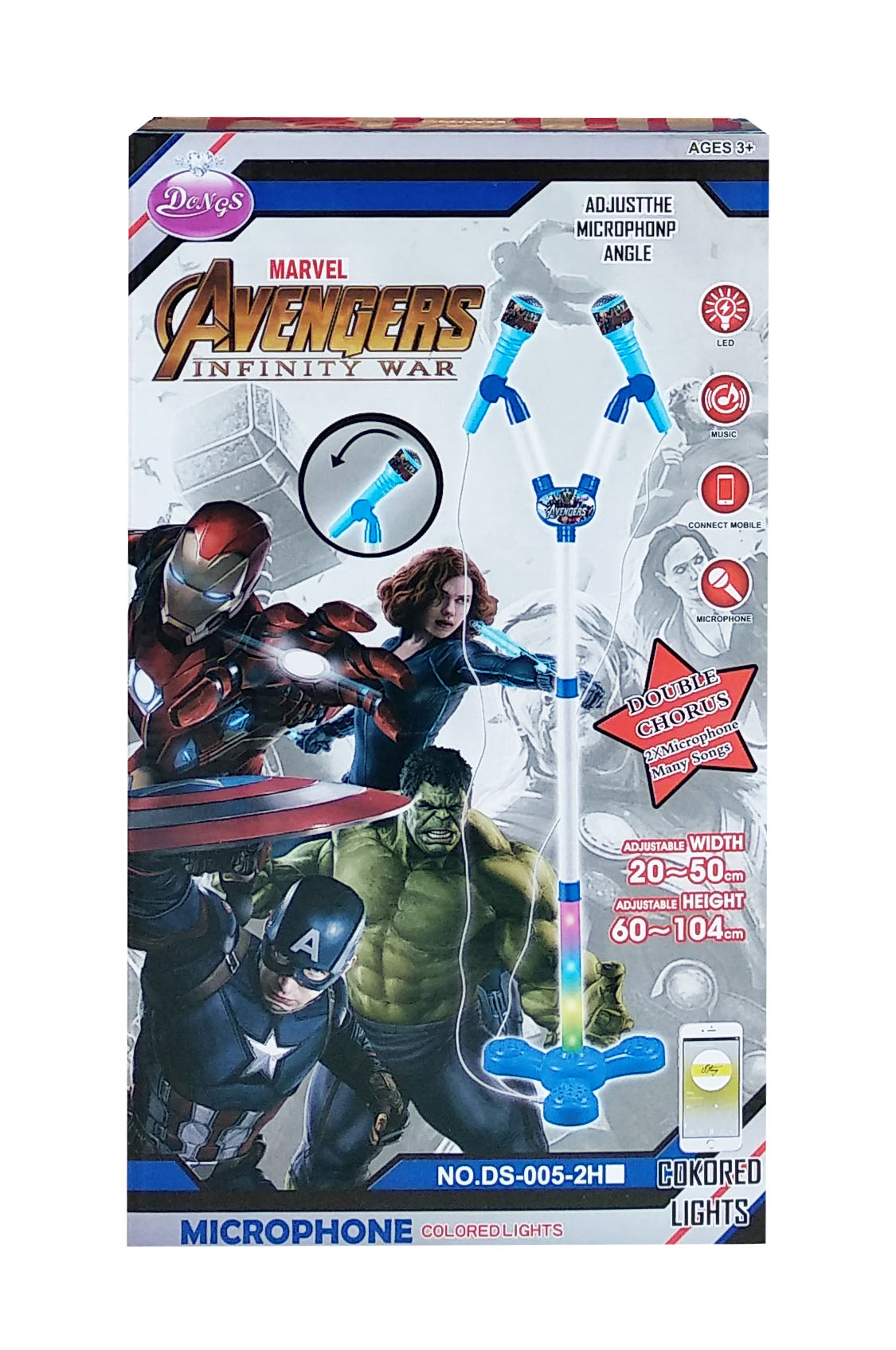 toko mainan online MICROPHONE DOUBBLE AVENGERS - DS-005-2H