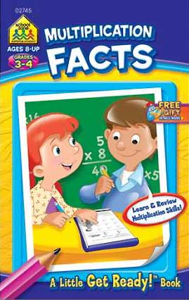 toko mainan online School Zone Multiplication Facts! A Little Get Ready! Book (Learn & Review Multiplication Skills!)
